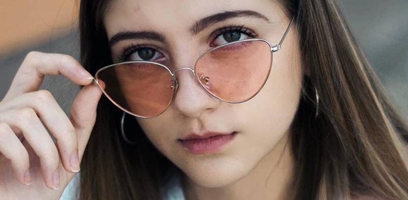 кому идут розовые очки фото