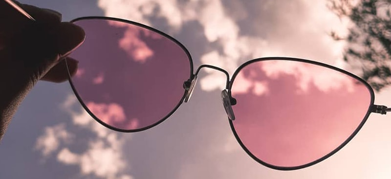 очки кошечки с розовыми линзами фото