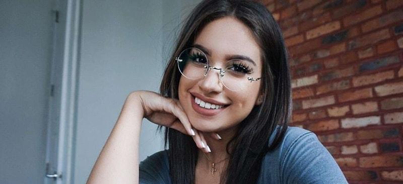 с чем носить очки без оправы фото