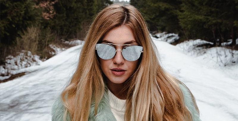 С чем носить зеркальные очки фото