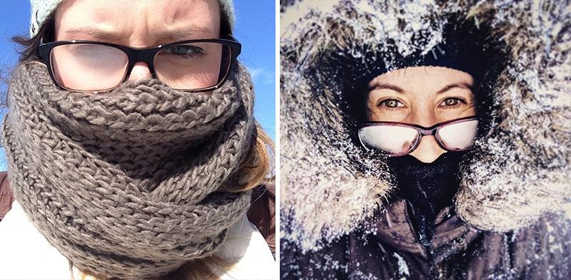 Запотевшие очки зимой фото