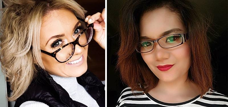 Как красить ресницы если носишь очки фото