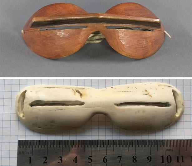 Как выглядели первые солнцезащитные очки