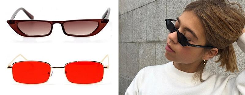 узкие и вытянутые очки фото