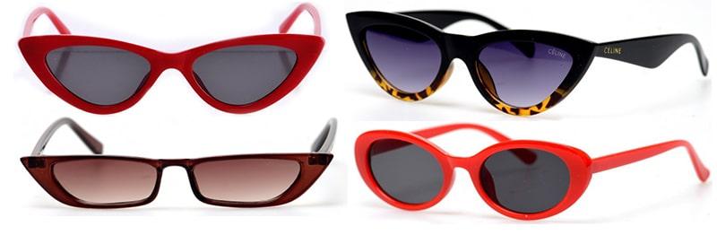 Футуристические узкие очки фото