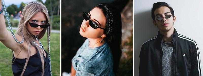 С чем носить узкие солнцезащитные очки фото