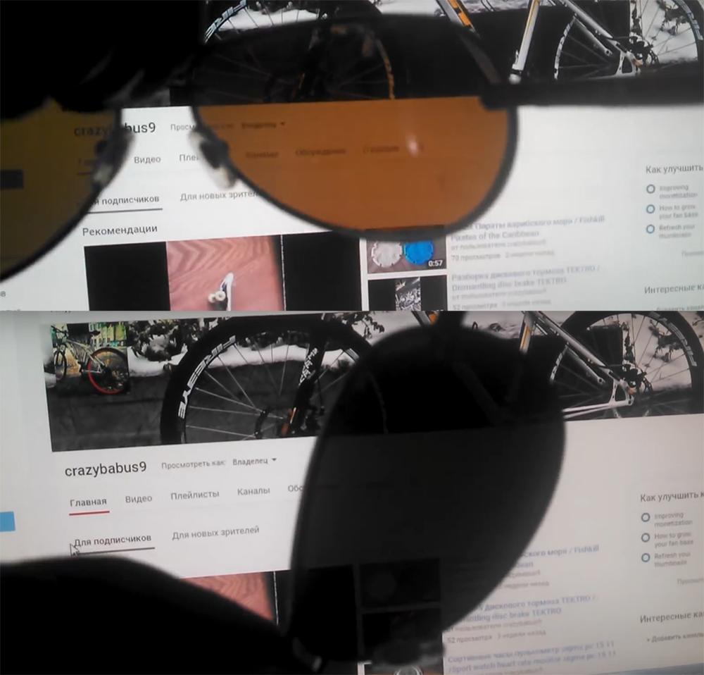 способ проверки очков на поляризацию фото